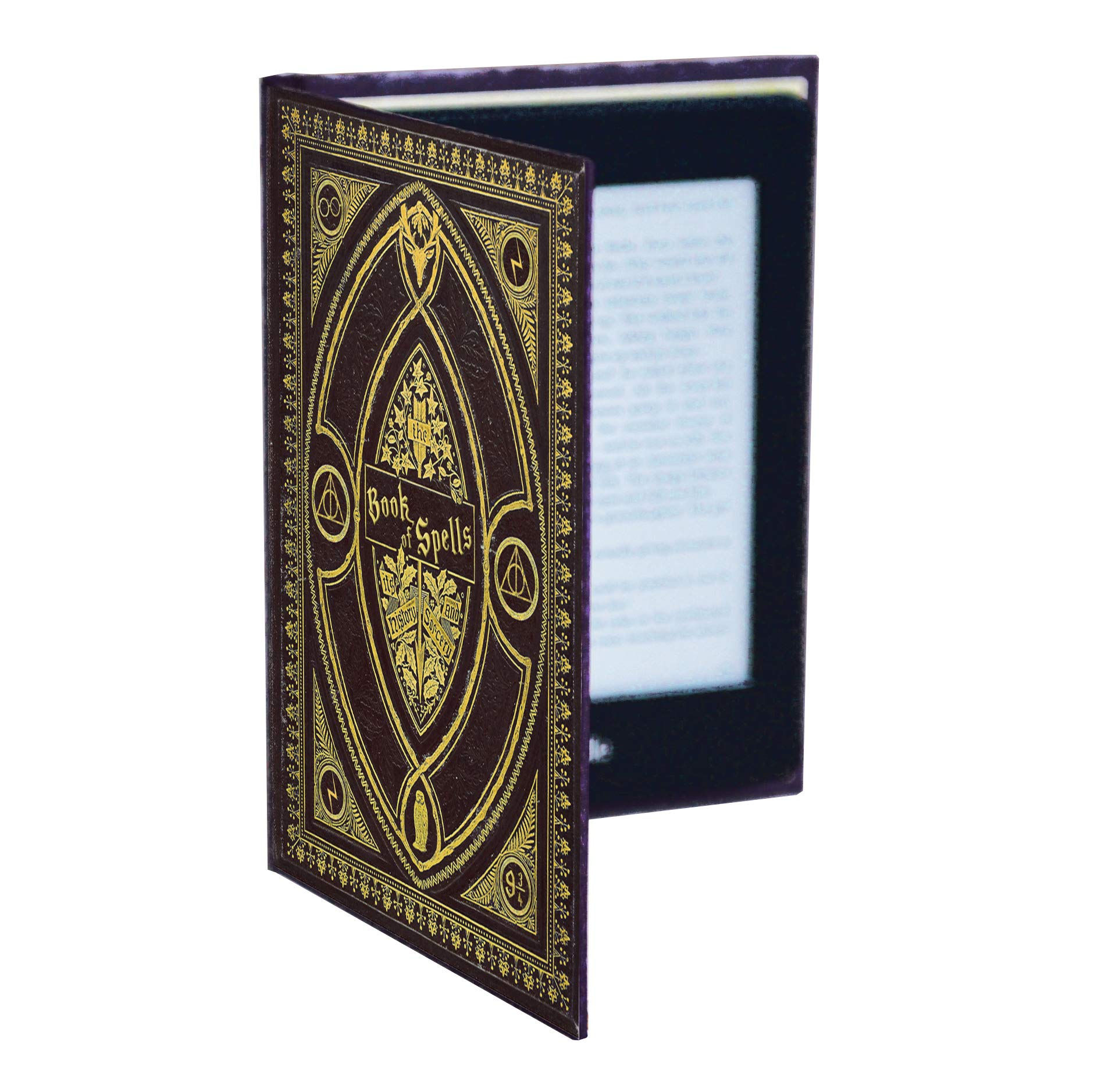 Kindle Paperwhite Case with Harry Potter Themed Foldback Book Cover (Hufflepuff Black)