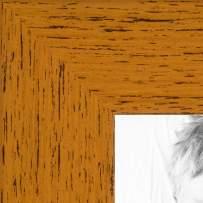 ArtToFrames 6x36 inch Butterscotch Rustic Barnwood Wood Picture Frame, 2WOM0066-1343-YYEL-6x36