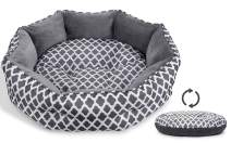 JOYO Cat Bed, 20 inch Pet Bed Machine Washable for Cats or Small Dogs Double Sided Cushions Calming Indoor Cushion Bed with Non-Slip Bottom for Improved Sleep, Soft Round Sofa Bed for Kitties Puppy