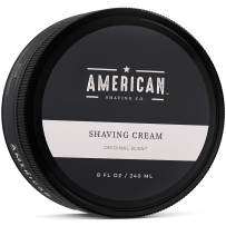 American Shaving Shaving Cream For Men (8oz) - Original Masculine Scent - Premium Natural Lathering Wet Shave Soap - Best Men's Shave Cream For Sensitive Skin - Leaves Skin Irritation-Free