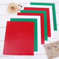 "Threadart Christmas Colors 10"" x 12"" Heat Transfer Vinyl Precut Sheets 