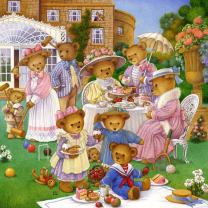 The Jigsaw Puzzle Factory Country Bears, Bear Family Harvest & Tea Party Puzzle Games for Adults and Kids Ages 12 and Up, 300 Piece, Made in The USA