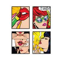"""Pop Art Prints Set of 4 By Carefree Bee 