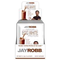 Jay Robb Chocolate Egg White Protein Powder, Low Carb, Keto, Vegetarian, Gluten Free, Lactose Free, No Sugar Added, No Fat, No Soy, Nothing Artificial, Non-GMO, Best-Tasting (Convenient Individual Packets)