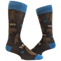 Mens Papa Bear Funny Novelty Socks Gift for Dad Sarcastic Graphic Cool Saying
