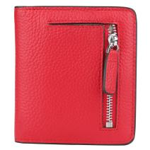 RFID Blocking Wallet Women's Small Compact Bifold Leather Purse Front Pocket Mini Wallet