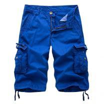 OEAK Men's Twill Cargo Shorts Multi Pockets Work Outdoor Wear Sapphire Blue US 40
