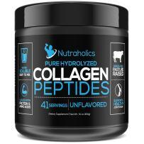 Collagen Peptides Hydrolyzed Protein Powder   Grass Fed Pasture Raised   Certified Paleo & Keto Friendly   11 Grams per Serving   16 OZ. Bottle   Unflavored Collagen Powder