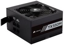CORSAIR TXM Series, TX550M, 550 Watt, 80+ Gold Certified, Semi Modular Power Supply