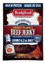 Bridgford Sweet Baby Ray's Sweet 'N Spicy Beef Jerky, High Protein, Zero Trans Fat, Made With 100% American Beef, 6.2 Oz, Pack of 1