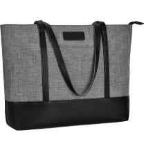 Laptop Tote Bag,Fits 15.6 Inch Laptop,Womens Lightweight Water Resistant Nylon Tote Bag Shoulder Bag,Grey