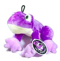 Pet Qwerks Frog Squeaky Sound Plush - Strong & Durable Stuffed Pet Toy with Funny Squeaks for Small, Medium, Large Dogs & Puppies (P179)