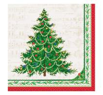 Classic Christmas Tree Beverage Napkins, 16ct