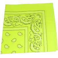 Mechaly Headbands for Men in Neon Colors - Cotton 22 in - 6 Pack or Dozen