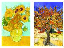 """Buttonsmith VanGogh Sunflowers Magnet - Set of 2 1.75"""" x 2.75"""" Rectangle Magnets - Made in the USA"""