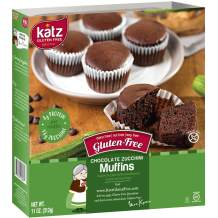 Katz Gluten Free Chocolate Zucchini Muffins | Dairy, Nut, Soy and Gluten Free | Kosher (1 Pack of 4 Muffins, 11 Ounce)