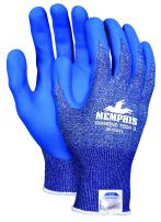 Memphis Glove 9672DTXL  Diamond Tech 3 Dyneema Technology Shell Gloves with Bi-Polymer Coated Palm/Fingers, Blue/White, X-Large, 1-Pair