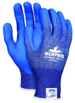 Memphis Glove 9672DTM  Diamond Tech 3 Dyneema Technology Shell Gloves with Bi-Polymer Coated Palm/Fingers, Blue/White, Medium, 1-Pair