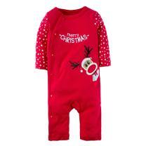 BIG ELEPHANT Unisex Baby 1 Piece Christmas Long Sleeve Romper Pajama