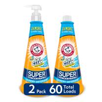 Arm & Hammer Plus Oxiclean Super Concentrated Laundry Detergent, 2 X 15.27 Oz Bottles with Reusable Pump (60 Loads), 30.54 Oz