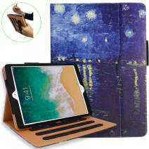 iPad 10.2 Case, iPad 7th Generation Case with Pencil Holder - Multi-Angle Stand, Hand Strap, Auto Sleep/Wake for iPad 7th Gen, iPad 10.2 2019(Rhone)