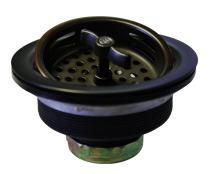 Westbrass R213-62 Wing Nut Style Large Kitchen Basket Strainer, Matte Black