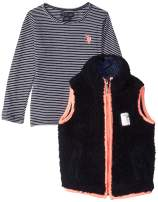 U.S. Polo Assn. Girls' Fashion Top and Vest Set