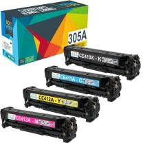 Do it Wiser Remanufactured Toner Cartridge Replacement for HP 305A 305X CE410X CE411A CE412A CE413A HP Laserjet Pro 400 Color MFP M451nw,M451dn, M451dw, MFP M475dn, Pro 300 Color MFP M375nw - 4 Pack