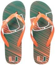 FOCO NCAA Unisex-Adult Stripe Fade FLIP Flop