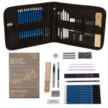 Bellofy Professional Drawing Kit Artist Drawing Supplies Kit   33-piece Sketch Kit, Erasers, Kit Bag, Free Sketchpad   Perfect Graphite Drawing Pencil Set for Sketching   Art Pencils For Shading