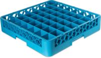 "Carlisle RG4914 OptiClean 49-Compartment Glass Rack, Polypropylene, 20.88"" Length, 20.88"" Width, 4.00"" Height, Blue (Case of 6)"