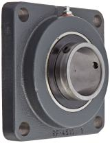 """Browning VF4S-235 Normal-Duty Flange Unit, 4 Bolt, Setscrew Lock, Regreasable, Contact and Flinger Seal, Cast Iron, Inch, 2-3/16"""" Bore, 5-1/8"""" Bolt Hole Spacing Width, 6-3/8"""" Overall Width"""