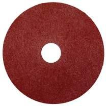 """Weiler 59578 Wolverine Aluminum Oxide Resin Fiber Sanding & Grinding Disc, 4-1/2"""" Diameter, 100 Grit, 7/8"""" Arbor Hole, (Pack of 25)"""