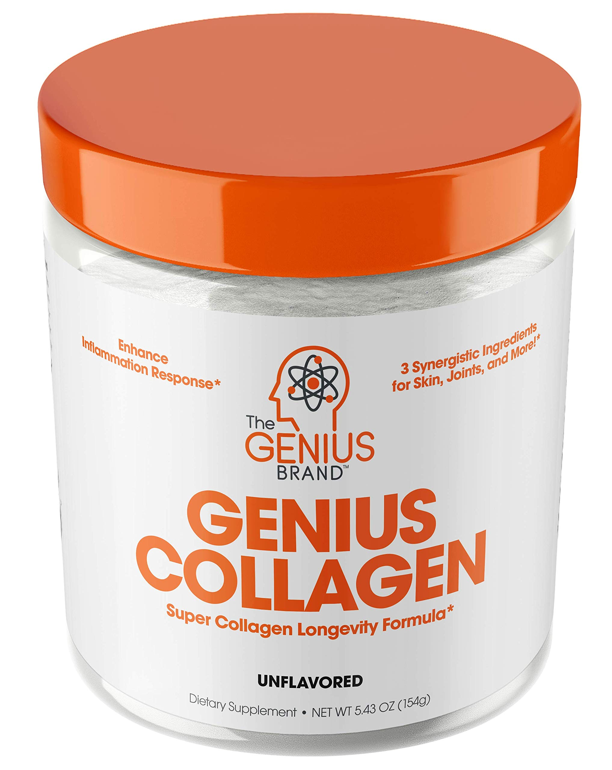 Collagen Peptides Powder - Hydrolyzed Collagen Protein Powder, Grass Fed for Hair Growth Skin Nails Joints; Post Workout Hydrolysate Collagen Supplements for Women & Men, Organic Non-GMO, Unflavored