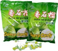 Soeos Guava Candy, Hard Candy Lollipop, (2 Packs).