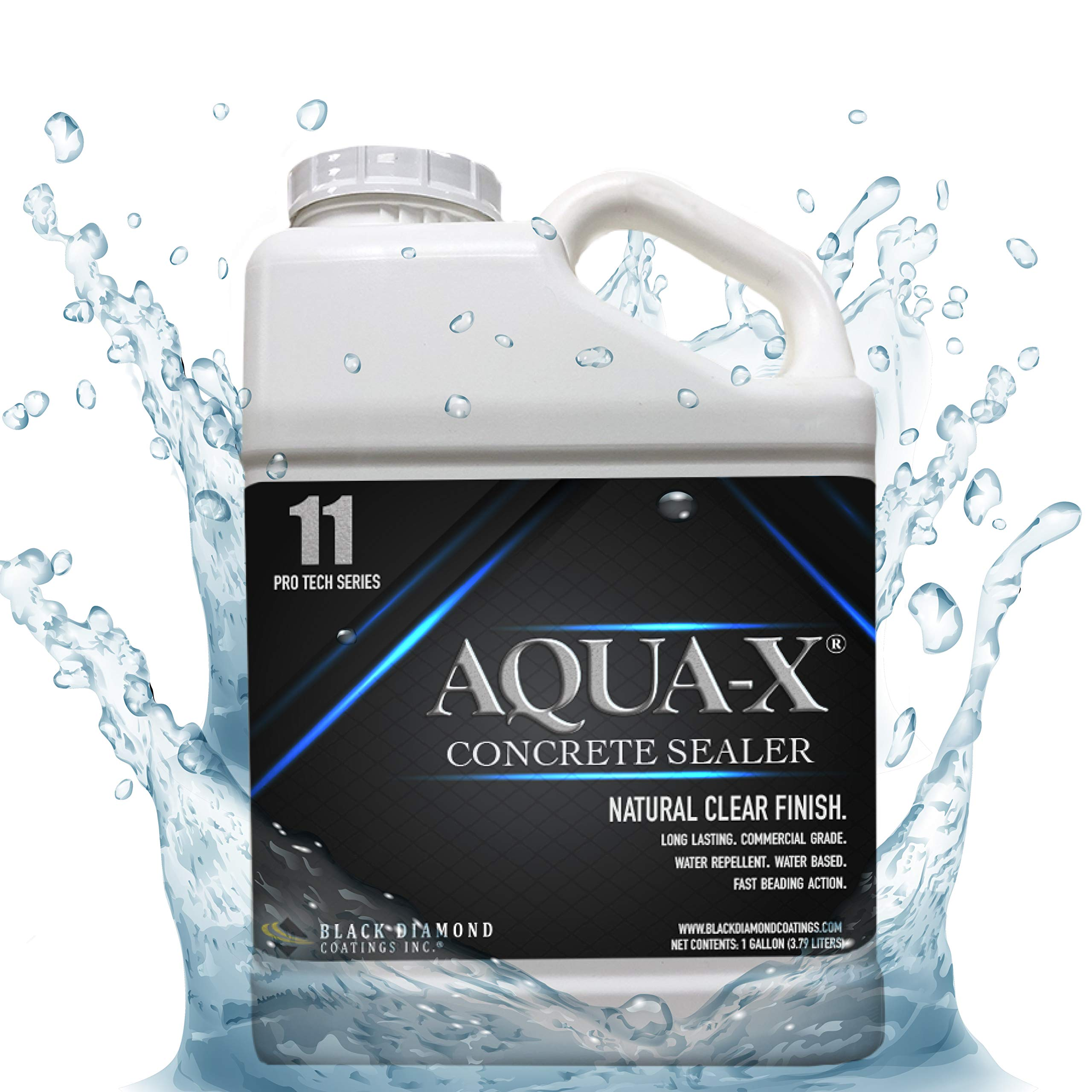 1 Gallon AQUA-X 11 Clear, Penetrating Concrete Sealer – Mold and Mildew Inhibitor