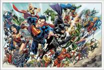 """Trends International DC Comics - Rebirth - Group Wall Poster, 22.375"""" x 34"""", White Framed Version"""