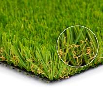 """SMARTLAWN PROFESSIONAL Realistic Artificial Grass Rug, 7'X40' Carpets for Indoor and Outdoor Use, 1.25"""" Pile Height Soft and Lush Natural Looking Synthetic Mats"""