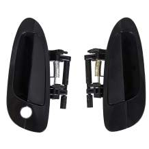 ECOTRIC Door Handle Smooth Black Exterior Outside For 2002-2006 Altima (Front Left & Right)