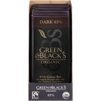 Green & Black's Organic Dark Chocolate, 85% Cacao, 3.5 Ounce (Pack of 10)