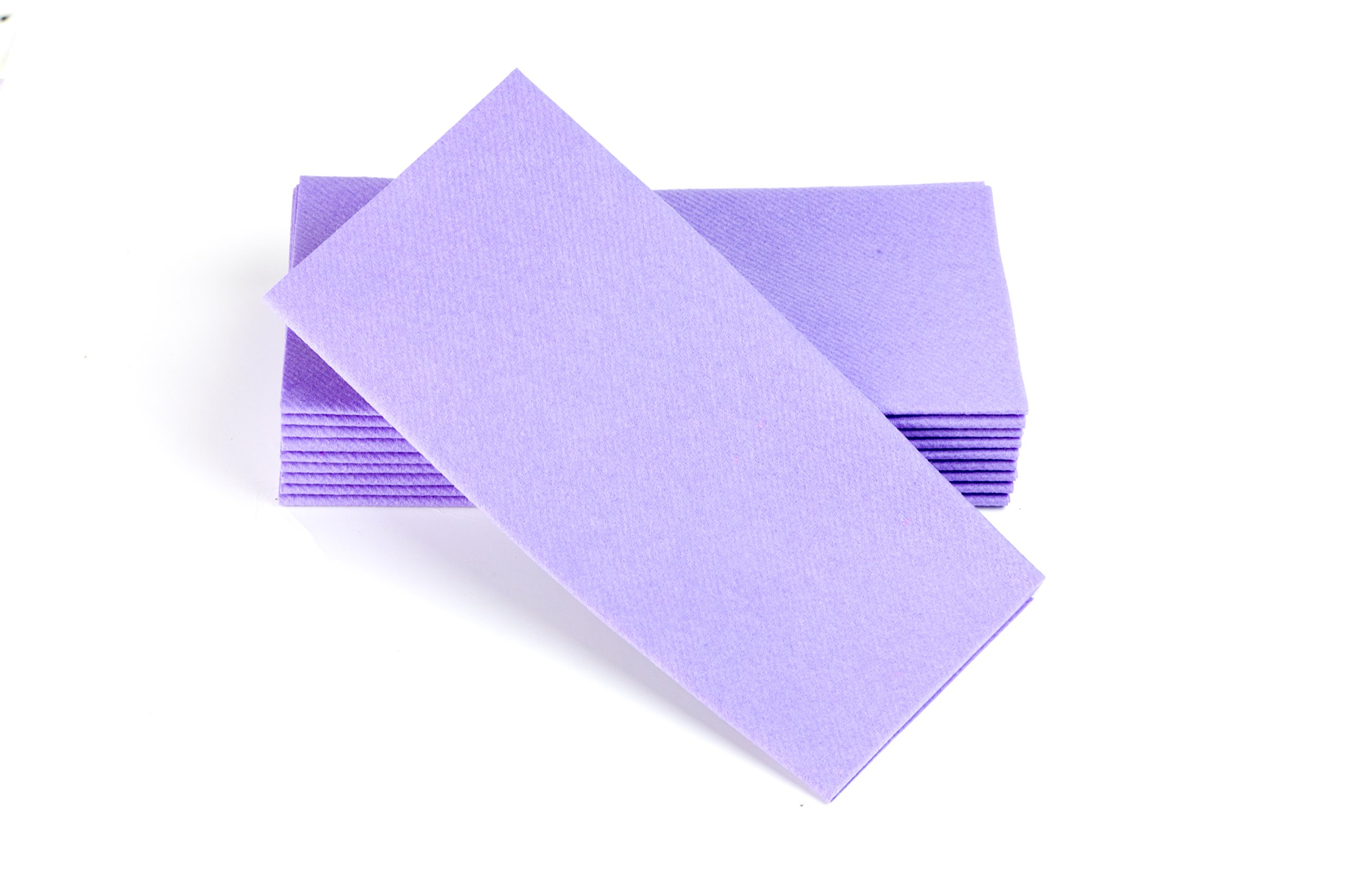 """Simulinen Colored Napkins - Decorative Cloth Like & Disposable, Dinner Napkins - Lavender, Soft, Absorbent & Durable - 16""""x16"""" - Great for Any Occasion! - Box of 50"""