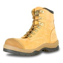 "Oliver 55 Series 6"" Leather Men's Steel Toe Work Boots, Wheat (55232)"