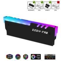 EZDIY-FAB ARGB DDR Memory RAM Cooler,RGB DDR Heatsink(Compatible with ASUS Aura Sync,GIGABYTE RGB Fusion, MSI Mystic Light) Black-1 Pack