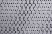 Intro-Tech Hexomat Front Row Custom Floor Mats for Select Acura RDX Models - Rubber-like Compound (Gray)