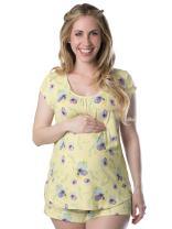 Kindred Bravely Amelia Ultra Soft Maternity & Nursing Pajamas - Shorts Set