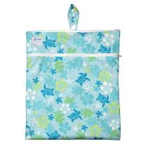 i play. by green sprouts Wet & Dry Bag | Stores wet & dry items separately | Use for swim wear, diapers, underwear, clothes & more
