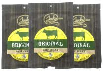 Jerky.com's Original Beef Jerky - 3 PACK - All-Natural, No Added Preservatives, No Added Nitrites or Nitrates - 9 total oz.