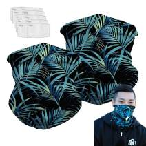 Bandanas Balaclava Neck Gaiter with Carbon Filter, UV Protection Face Cover for Hot Summer