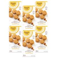 Simple Mills Almond Flour Toasted Pecan Cookies, Gluten Free and Delicious Crunchy Cookies, Organic Coconut Oil, Better for you Snacks, Made with whole foods, 6 Count, (Packaging May Vary)6