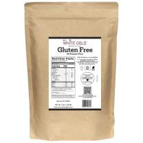 Extra White Gold Gluten Free All Purpose Flour – Gluten Free Flour Blend For Baking & Cooking – [Kosher] [Gluten Free] [Vegan] [Soy Free] [Nut Free] [Dairy Free] – 3lb
